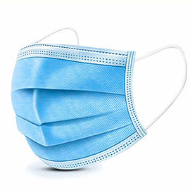 3 Ply Blue Color Cheap Price Disposable Face Mask Non Woven Material Used For Personal Protection