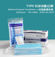 High quality BFE 95% 99% EN14683:2019 3-Ply Disposable surgical laboratory face mask TYPE I/II