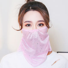Summer Sunscreen Anti Dust Reusable Female Face Mask